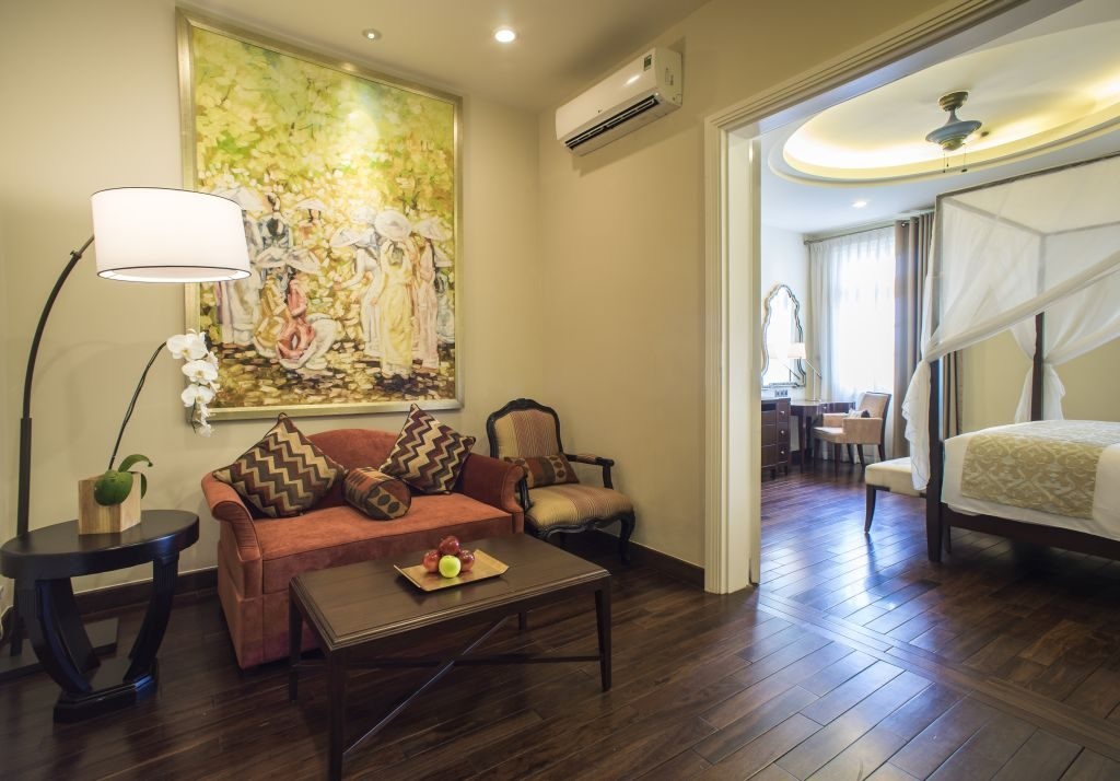 Luxury Hotel Room With Private Balcony  Villa Song Saigon