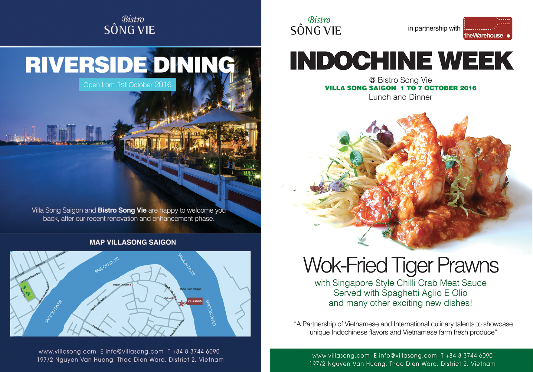 Press Archives Villa Song Saigon Hotel Tiger River Spas Hot Tub Wiring Diagram New And Exciting Dishes Such As Wok Fried Nha Trang Prawns With Singapore Style Chilli Crab Meat Sauce Served Spaghetti Aglio E Olio