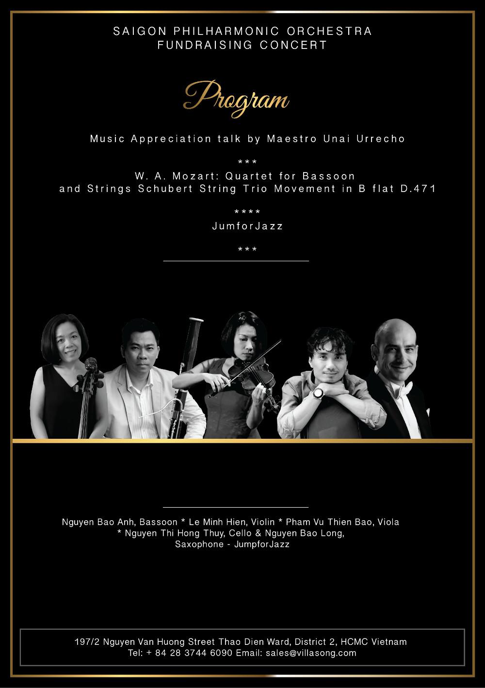 Villa Song Saigon fundraising concert artist