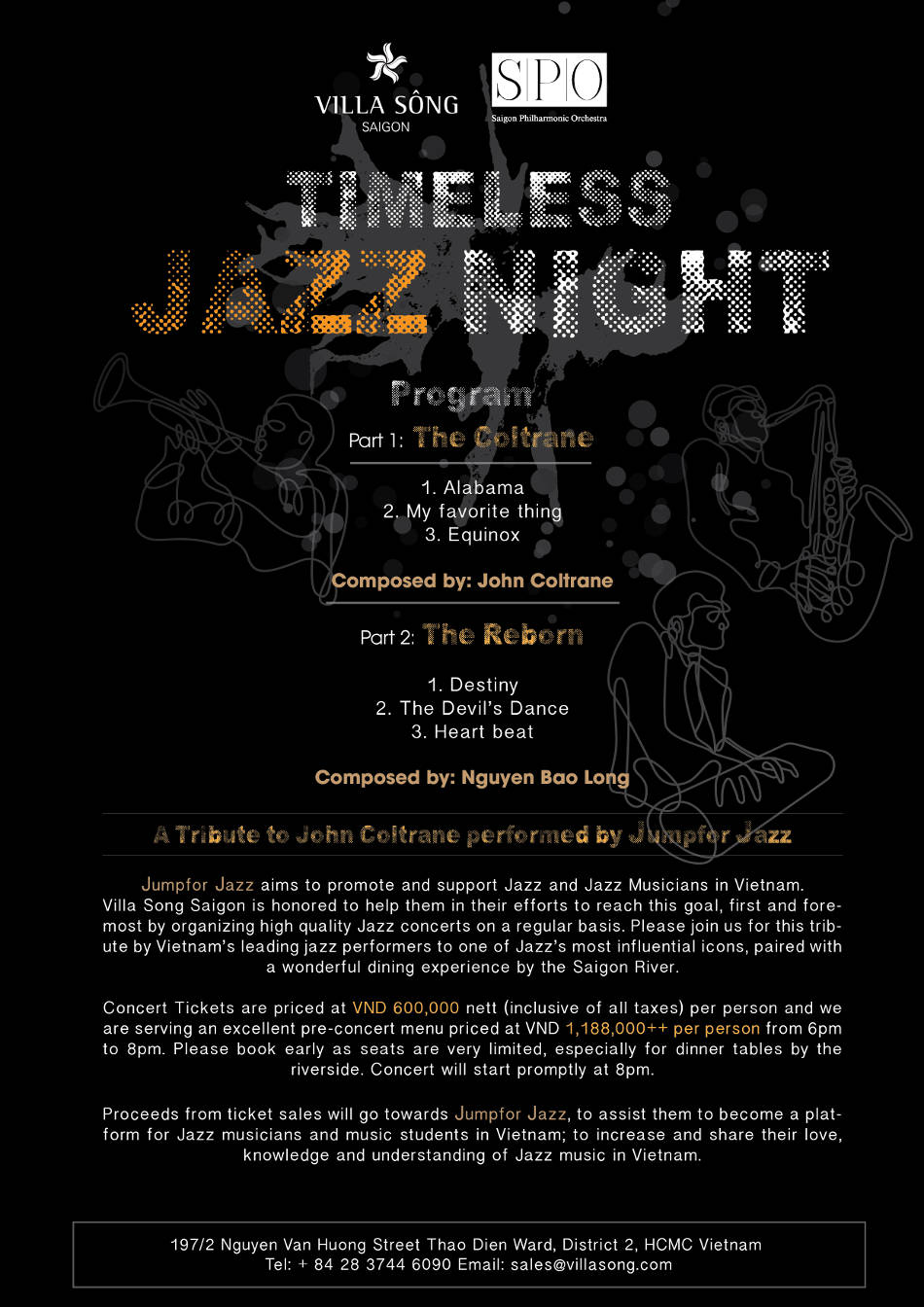 Villa Song Saigon Jazz night program