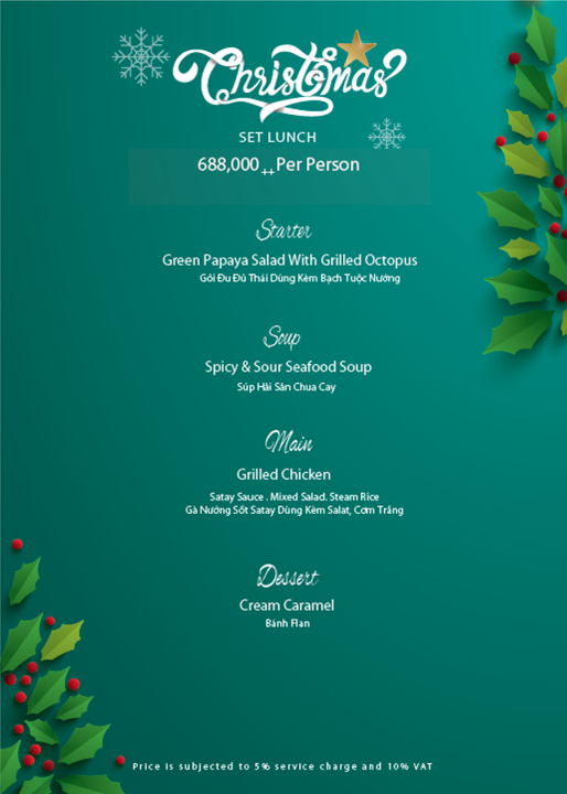 Christmas Set Lunch 2018